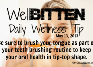 WellBitten Wellness Tip: Health Benefits of Tongue Brushing