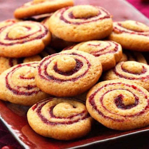 Cranberry Honey Spice Pinwheels for Low Cal Holiday Cookies