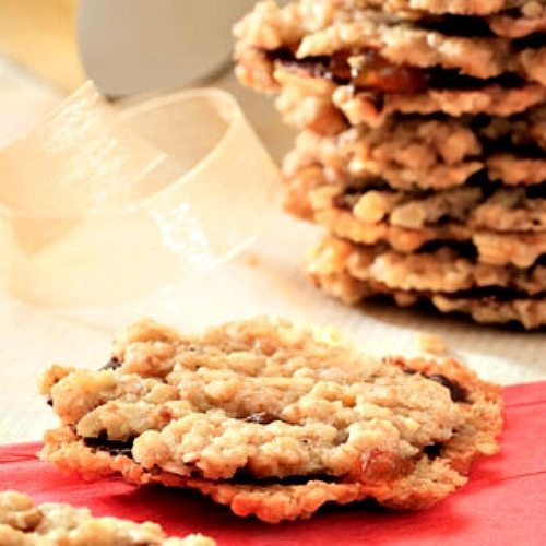 Dark Chocolate Florentines for Low Cal Holiday Cookies