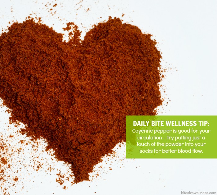 Daily Bite Wellness Tip - Cayenne Pepper for Circulation